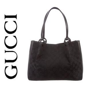 39c156eb6dd Gucci Bags - Gucci Black Canvas Tote AUTHENTIC w  duster bag